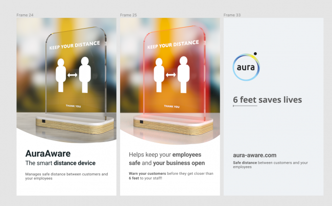 The Aura Aware is a smart distance alert system